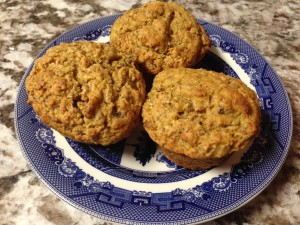 Writers need healthy nourishment: Orange Bran Muffins